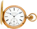 Timepieces:Pocket (pre 1900) , A Lange & Söhne Deutsche Uhrenfabrikation Rose Gold HunterCase, circa 1895. ...