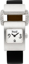 "Timepieces:Wristwatch, Piaget Ref. 5221 ""Miss Protocole"" White Gold & Diamond Lady'sWatch. ..."