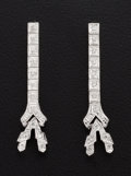 Estate Jewelry:Earrings, Eiffel Tower 18k Gold Diamond Earrings. ...