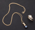 Estate Jewelry:Other , Cultured Pearl & Diamond Ring & Pendant. ... (Total: 2Items)