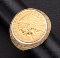 Estate Jewelry:Rings, Gold 2 1/2 Dollar Indian Head Coin Ring. ...