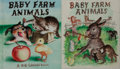 Art:Illustration Art - Mainstream, Garth Williams, illustrator. Two Original Watercolor Paintings forProposed Front Covers of Baby Farm Animals. Each ... (Total:2 Items)