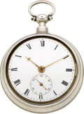 Timepieces:Pocket (pre 1900) , John R. Arnold London Rare Cylinder Fusee With Special CompensationLater Case, circa 1795. ...