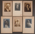 American Indian Art:Photographs, SIX STUDIO PORTRAITS OF SIOUX INDIANS BY FRANK BENNETT FISKE. ...(Total: 6 Items)