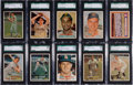 Baseball Cards:Lots, 1957 Topps Baseball SGC 96 Mint 9 Collection (22). ...