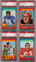 Football Cards:Sets, 1971 Topps Football Complete Set (263). ...