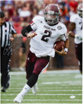 Football Collectibles:Photos, Johnny Manziel Signed Oversized Photograph....
