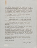 Baseball Collectibles:Others, Billy Martin Signed Contract. ...