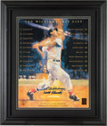 Baseball Collectibles:Others, Ted Williams and Frank Robinson Multi Signed Oversized Print. ...