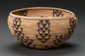 American Indian Art:Baskets, A YOKUTS COILED BOWL. Attributed to Mary Graham. c. 1900...