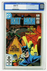 Batman and Dark Knight CGC Group (DC, 1981-86). All but one of these issues are CGC-certified 9.8, and all have white pa...