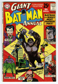 Batman Annual #3 (DC, 1962) Condition: FN+. The Joker and Two-Face appear. 80 pages. Overstreet 2006 FN 6.0 value = $93;...