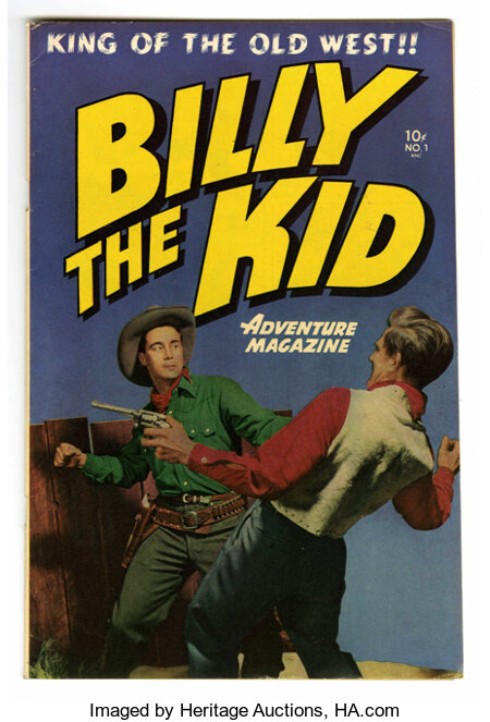 Billy the Kid Adventure Magazine #1 Mile High pedigree (Toby Publishing, 1950) Condition: VF. Photo cover. Al Williamson and...