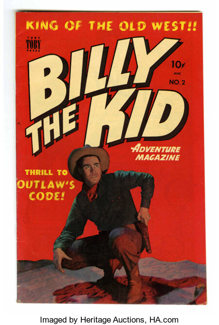 Billy the Kid Adventure Magazine #2 Mile High pedigree (Toby Publishing, 1950) Condition: VF/NM. Photo cover. Overstreet 200...