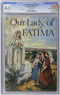 Catechetical Guild Giveaways #395 Our Lady Of Fatima - File Copy (Catechetical Guild, 1955) CGC VG+ 4.5 Off-white pages...