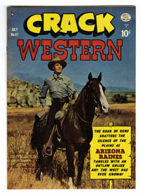 Crack Western #67 Mile High pedigree (Quality, 1950) Condition: NM. Randolph Scott photo cover. Reed Crandall art. Overs...