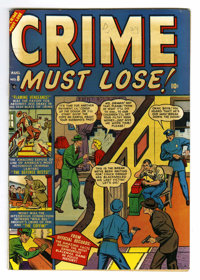 Crime Must Lose! #8 Mile High pedigree (Atlas, 1951) Condition: FN+. Overstreet 2006 FN 6.0 value = $39; VF 8.0 value =...