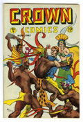 Golden Age (1938-1955):Adventure, Crown Comics #9 Mile High pedigree (Golfing, Inc., 1947) Condition: NM-. Great cover art. Overstreet 2006 NM- 9.2 value = $1...