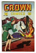 Golden Age (1938-1955):Adventure, Crown Comics #10 Mile High pedigree (Golfing, Inc., 1947) Condition: VF/NM. Voodah appearance. Overstreet 2006 VF/NM 9.0 val...
