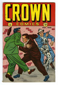 Golden Age (1938-1955):Crime, Crown Comics #13 File Copy (Golfing, Inc., 1948) Condition: VF+. New logo starts. Overstreet 2006 VF 8.0 value = $89; VF/NM ...