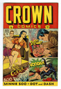 Golden Age (1938-1955):Adventure, Crown Comics #15 Mile High pedigree (Golfing, Inc., 1948) Condition: VF/NM. Voodah cover appearance. Frank Bolle art. Overst...