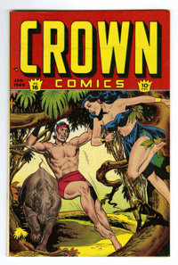 Crown Comics #16 Mile High pedigree (Golfing, Inc., 1949) Condition: NM. Frank Bolle art. Voodah cover. Overstreet 2006...