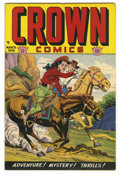 Golden Age (1938-1955):Western, Crown Comics #17 Mile High pedigree (Golfing, Inc., 1949) Condition: VF/NM. Overstreet 2006 VF/NM 9.0 value = $132; NM- 9.2 ...