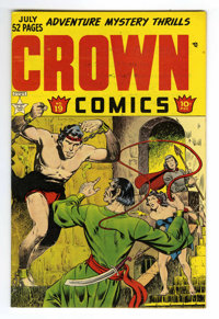 Crown Comics #19 Mile High pedigree (Golfing, Inc., 1949) Condition: NM. Bob Powell art. Overstreet 2006 NM- 9.2 value =...
