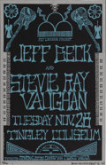 Music Memorabilia:Autographs and Signed Items, Stevie Ray Vaughan/Jeff Beck Tingley Coliseum 1989 Concert PosterArtist Signed Limited Edition, 10/100 (Brian Curley). The...(Total: 1 Item)