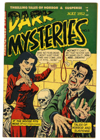 Dark Mysteries #6 (Master Publications, 1952) Condition: FN. Issue has a water stain. Overstreet 2006 FN 6.0 value = $12...