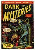 Golden Age (1938-1955):Horror, Dark Mysteries #11 (Master Publications, 1953) Condition: VF-. A.C. Hollingsworth art. Severed head panels. Based on this c...