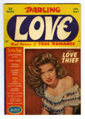 Golden Age (1938-1955):Romance, Darling Love #4 (MLJ, 1949) Condition: VF. Photo cover. Overstreet2006 VF 8.0 value = $52. From the Collection of John Mc...