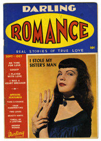 Darling Romance #1 (MLJ, 1949) Condition: VG/FN. Photo cover. Overstreet 2006 VG 4.0 value = $48; FN 6.0 value = $72. Fr...