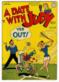 A Date With Judy #5 Mile High pedigree (DC, 1948) Condition: NM. Overstreet 2006 NM- 9.2 value = $110. From the Collecti...