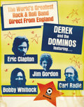 "Music Memorabilia:Posters, Derek and the Dominos Generic Tour Poster (Atco, c. 1970). EricClapton fled from the ""supergroup"" madness of 1969's Blind ...(Total: 1 Item)"