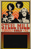 Music Memorabilia:Posters, Steel Mill (Bruce Springsteen) Concert Poster (c. 1969). Here's onethat doesn't come up often! In 1968, a young Bruce Spri... (Total:1 Item)
