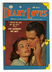 Diary Loves #22 Mile High pedigree (Quality, 1952) Condition: VF/NM. Photo cover. Overstreet 2006 VF/NM 9.0 value = $43;...