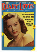 Golden Age (1938-1955):Romance, Diary Loves #28 Mile High pedigree (Quality, 1953) Condition:VF/NM. Photo cover. Overstreet 2006 VF/NM 9.0 value = $43; NM-...