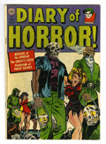 Golden Age (1938-1955):Horror, Diary of Horror #1 (Avon, 1952) Condition: VG/FN. Check out the white pages on this copy! A. C. Hollingsworth bondage cover ...