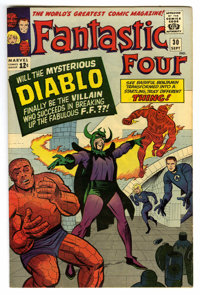 Fantastic Four #30 (Marvel, 1964) Condition: VF. First appearance of Diablo. Jack Kirby and Chic Stone cover and art. Ov...