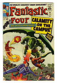 Fantastic Four #35 (Marvel, 1965) Condition: VF/NM. First appearance of Dragon Man. Second appearance of Diablo. Reed Ri...