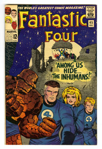 Fantastic Four #45 (Marvel, 1965) Condition: VF/NM. First group appearance of the Inhumans. First appearances of Black B...