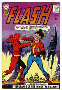 The Flash #137 (DC, 1963) Condition: VF-. Golden Age Flash appearance. First full Silver Age appearance of the Justice S...