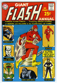 Flash Annual #1 (DC, 1963) Condition: VF. An 80-Page Giant. Carmine Infantino cover and art. Reprints the first appearan...