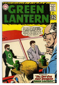 Green Lantern #17 (DC, 1962) Condition: Qualified VF. Gil Kane and Joe Giella cover and art. Bottom staple blown. Overst...