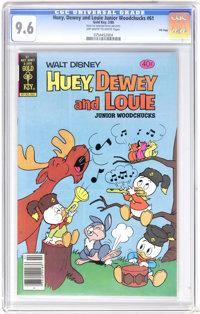 Huey, Dewey, and Louie Junior Woodchucks #61 File Copy (Gold Key/Whitman, 1980) CGC NM+ 9.6 Off-white to white pages. Ov...
