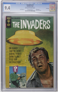 The Invaders #1 File Copy (Gold Key, 1967) CGC NM 9.4 Off-white to white pages. Comic book adaptation of the popular tel...