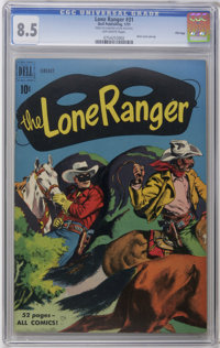 The Lone Ranger #31 File Copy (Dell, 1951) CGC VF+ 8.5 Off-white pages. Painted cover. Back cover pin-up. First issue wi...