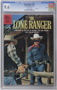 The Lone Ranger #132 File Copy (Dell, 1960) CGC NM+ 9.6 Off-white pages. Photo cover depicting the Lone Ranger beating a...