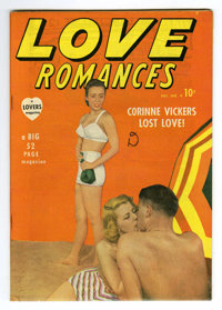Love Romances #9 Mile High pedigree (Marvel, 1949) Condition: NM-. Photo cover. Overstreet 2006 NM- 9.2 value = $85. Fro...